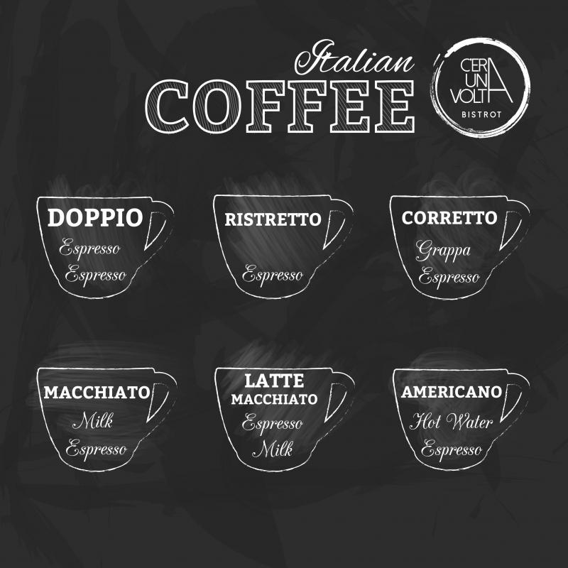 Caff tanti modi per gustarlo c 39 era una volta bistrot - Diversi tipi di caffe ...